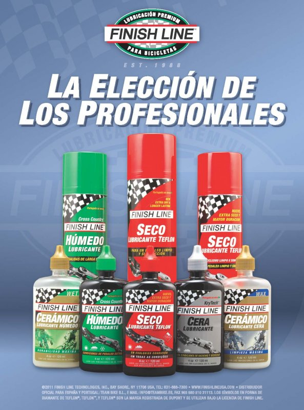 Finish Line - Bicycle Lubricants and Care Products - Advertisements